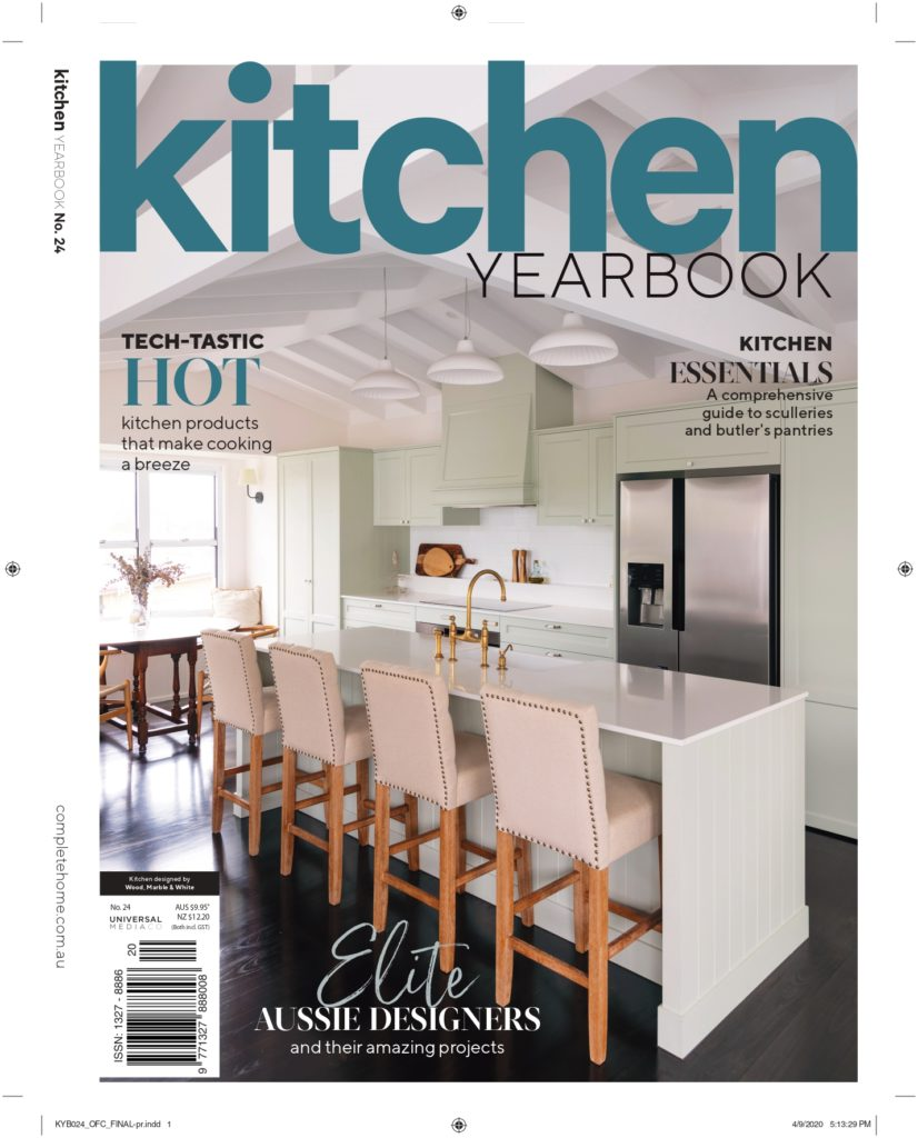 Image of a magazine focused on kitchen designs and trends